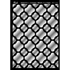 Rich Varak Soft Dekopaj Kağıdı 29x42cm - 7012 GÜMÜŞ