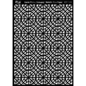 Rich Varak Soft Dekopaj Kağıdı 29x42cm - 7013 GÜMÜŞ