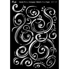 Rich Varak Soft Dekopaj Kağıdı 29x42cm - 7017 GÜMÜŞ