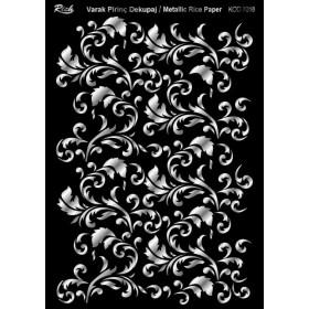 Rich Varak Soft Dekopaj Kağıdı 29x42cm - 7018 GÜMÜŞ