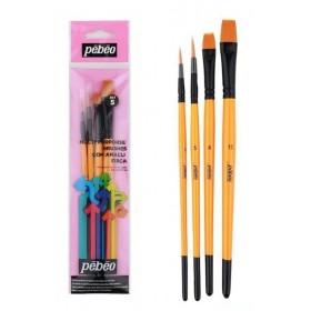 Pebeo 4'lü Karma Fırça Seti SET-5
