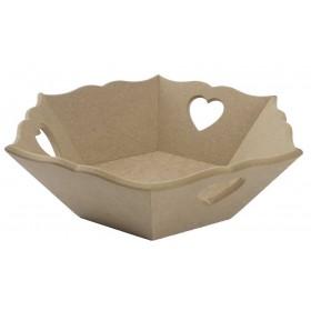 Altıgen Kalpli Ekmeklik 28x30x9cm