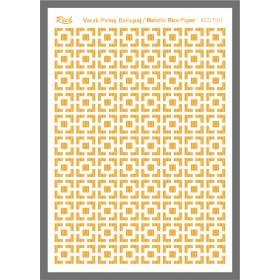 Rich Varaklı Soft Pirinç Kağıdı 29x42cm - 72001 ALTIN