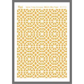 Rich Varaklı Soft Pirinç Kağıdı 29x42cm - 72013 ALTIN