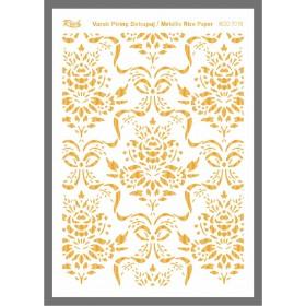 Rich Varaklı Soft Pirinç Kağıdı 29x42cm - 72016 ALTIN