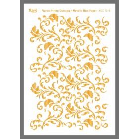 Rich Varaklı Soft Pirinç Kağıdı 29x42cm - 72018 ALTIN
