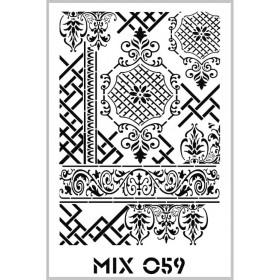 Rich Mix Stencil Şablon Özel Seri 33x48cm - MIX059
