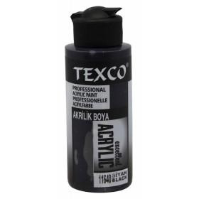 Texco Akrlilik Boya 11640 - SİYAH 110cc