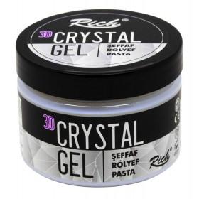 Rich 3D Kristal Jel Şeffaf Rölyef Pasta 150cc