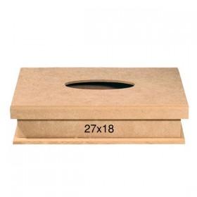 Klineks Kutu ( Mendil ) 27x18cm Ahşap Obje