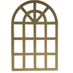 Alaçatı Pencere Aynalık Ahşap Obje 90x60cm