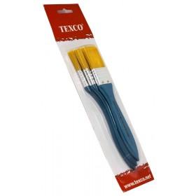 Texco İpeksi Uç Zemin Fırça Seti 3'lü Sarı Kıl