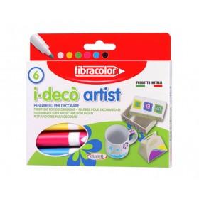 Fibracolor i-deco artist Dekorasyon Kalemi 6'lı Set