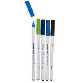 Edding 4600 Kumaş Boyama Kalemi 5'li SOĞUK Renkler