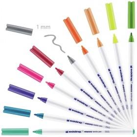 Edding 4600 Kumaş Boyama Kalemi 10'lu EĞLENCELİ Renkler