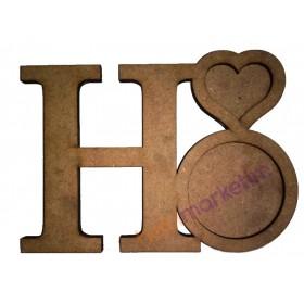 Harfli Kupa ve Bardak Altlığı - H