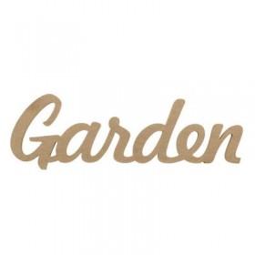 Garden Yazısı Duvar Süsü Ahşap Obje 40x13 cm