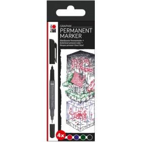 Marabu Graphix Permanent Marker Set 6'lı 4