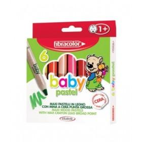 Fibracolor Baby Pastel 1+ Yaş Bebekler İçin Kalın Pastel Kalem 6 Renk