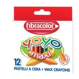 Fibracolor Yoyo Maxi Boy Mumlu Pastel Kalem 12 Renk