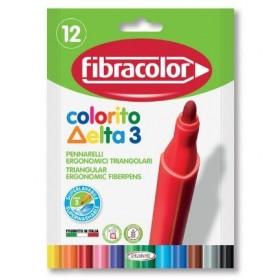 Fibracolor Colorito Delta 3 Keçeli Boya Kalemi 12 Renk