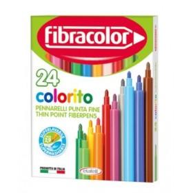 Fibracolor Colorito Keçeli Boya Kalemi 24 Renk