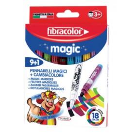 Fibracolor Magic Renk Değiştiren Keçeli Kalem 9+1 Renk