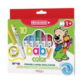 Fibracolor Baby Color 1+ Yaş Bebekler İçin 10 Renk Keçeli Kalem