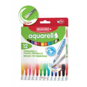 Fibracolor Aquarell Suda Çözünebilen Keçeli Kalem 12 Renk