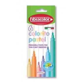 Fibracolor Colorito Pastel 6 Renk Keçeli Kalem