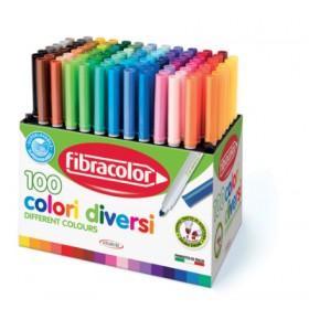 Fibracolor Colori Diversi 100 Renk Marker Keçeli Kalem Seti