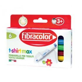 Fibracolor T-shirtmax Kalıcı Tekstil/Kumaş Kalemi 6 Renk