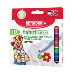 Fibracolor T-shirtmax Kalıcı Tekstil/Kumaş Kalemi 10 Renk