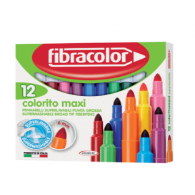 Fibracolor Colorito Maxi Kalın Keçeli Kalem 12 Renk