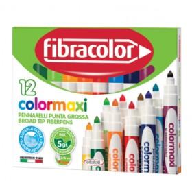Fibracolor Colormaxi Jumbo Keçeli Kalem 12 Renk