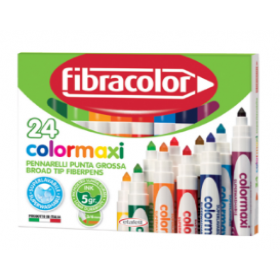 Fibracolor Colormaxi Jumbo Keçeli Kalem 24 Renk