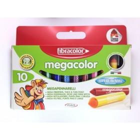 Fibracolor Megacolor Super Washable Su Bazlı Keçeli Kalem 10 Renk