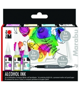 Marabu Alcohol Ink set Flowers 3x20ml