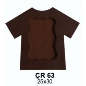 Tişört Resim Çerçeve  Ahşap Obje 30x25cm