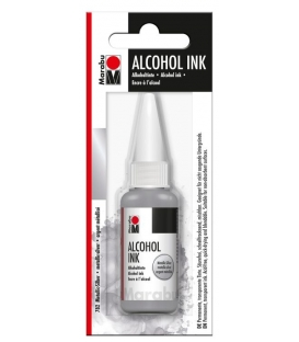Marabu Alcholol ink 20ml - METALLIC SILVER