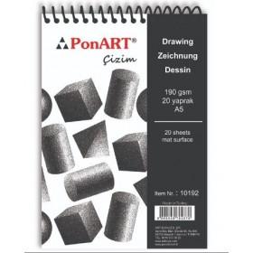 PonART Drawing&Painting Blok 190 gr A5 20 Yaprak