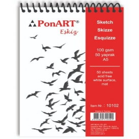 PonART Eskiz Blok 100gr A5 50 Yaprak