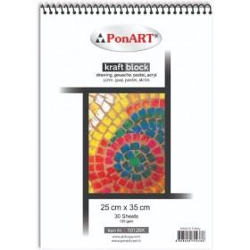 PonART Kraft blok 125 gr 25x35 cm 30 Yaprak