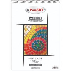 PonART KRAFT Block 130 gr 35x50cm 30 Yaprak