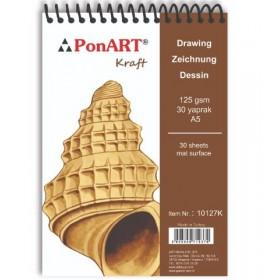 PonART Kraft blok 125 gr A5 30 Yaprak