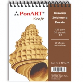 PonART Kraft blok 130 gr A5 30 Yaprak