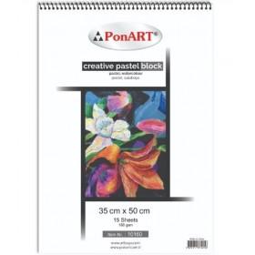 PonART Creative Pastel Blok 160 gr 15 Yaprak 35x50cm