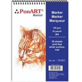 PonART Marker Pad 190 gr 30 Yaprak A4