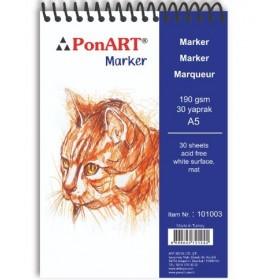 PonART Marker Pad 190 gr 30 Yaprak A5