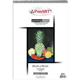 PonART Drawing&Painting Blok 130 gr 35x50 cm 15 Yaprak